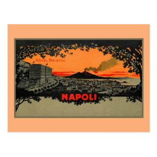 旧式な色のlithoのホテルブリストルナポリNapoli ポストカード