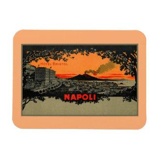 旧式な色のlithoのホテルブリストルナポリNapoli マグネット