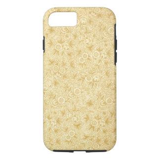 旧式な花のヴィンテージの羊皮紙のガーリーなパターン iPhone 7ケース