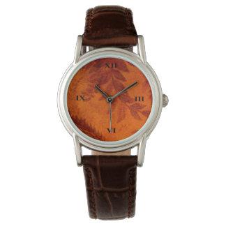 旧式な葉 腕時計