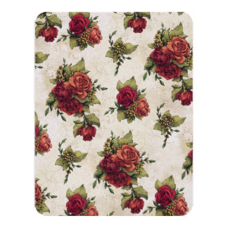 旧式な赤いバラの壁紙 カード