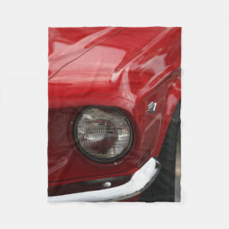 旧式な車のヘッドライトの赤いペンキ フリースブランケット