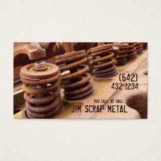 旧式な車エンジンの屑鉄ビジネス 名刺