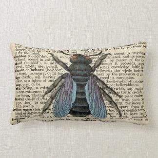 旧式な辞書の虫の枕 ランバークッション