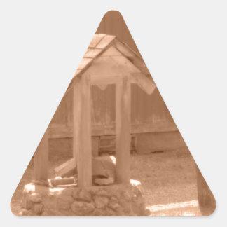 旧式な農場 三角形シール