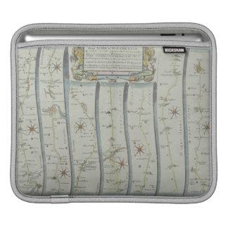 旧式な道路図 iPadスリーブ