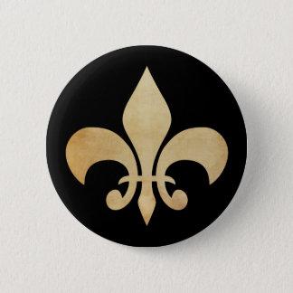 旧式な金ゴールドおよび黒い(紋章の)フラ・ダ・リボタン 5.7CM 丸型バッジ