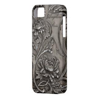 旧式な銀製のiphone 5の場合 iPhone SE/5/5s ケース