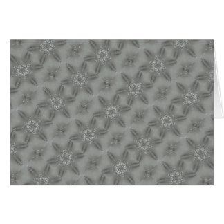 旧式な銀製灰色の装飾的で目まぐるしい星 カード