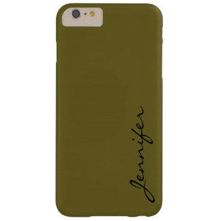 旧式な青銅色色の背景 BARELY THERE iPhone 6 PLUS ケース