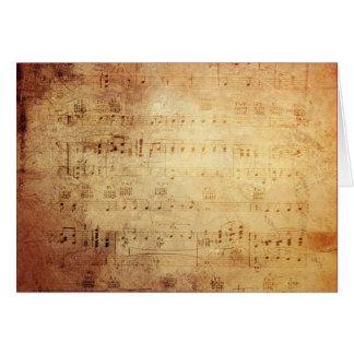 旧式な音楽 カード