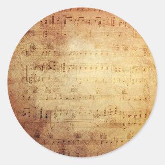 旧式な音楽 丸型シール