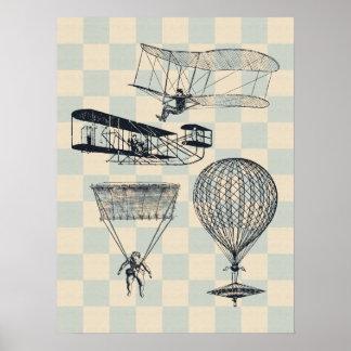 旧式な飛行絵ポスター ポスター