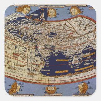 旧式なPtolemaic世界地図、Arnsheimのヨハネス スクエアシール