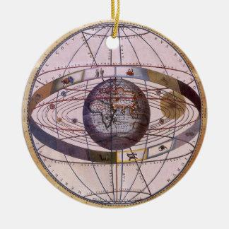 旧式なPtolemaic太陽系、アンドレアスCellarius セラミックオーナメント