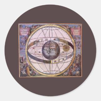 旧式なPtolemaic太陽系、アンドレアスCellarius ラウンドシール