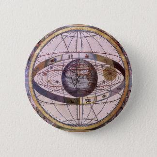 旧式なPtolemaic太陽系、アンドレアスCellarius 5.7cm 丸型バッジ