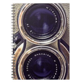 旧式のカメラ ノートブック