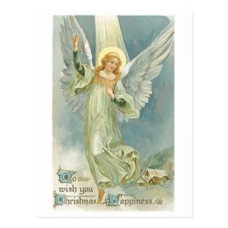 旧式のクリスマスの天使グロリア ポストカード