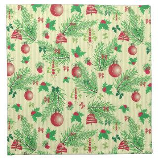 旧式のクリスマスパターン ナプキンクロス