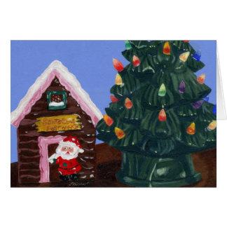 旧式のクリスマス グリーティングカード