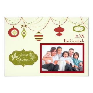 旧式のクリスマス- 3x5クリスマスカード カード