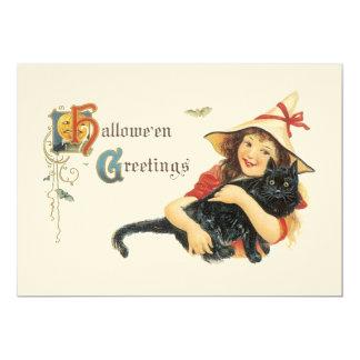 旧式のハロウィンの挨拶のパーティの招待状 カード