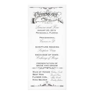 旧式のビクトリアンな式プログラム ラックカード