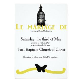旧式のフランスのな結婚式 カード
