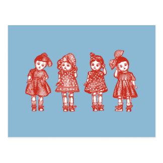 旧式の人形 ポストカード
