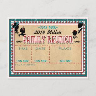 旧式の家族会-招待状の郵便はがき インビテーションポストカード