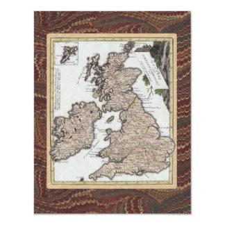 旧式の英国のはしご酒の誕生会 10.8 X 14 インビテーションカード