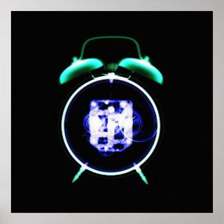 旧式のX線の視野の目覚し時計-オリジナル ポスター