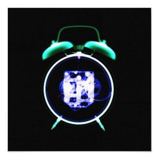 旧式のX線の視野の目覚し時計-オリジナル 13.3 スクエアインビテーションカード