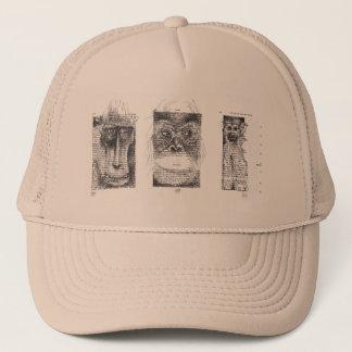 旧正月の(占星術の)十二宮図の帽子のための3匹の賢い猿 キャップ