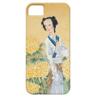 旧正月、東洋の女性 iPhone SE/5/5s ケース