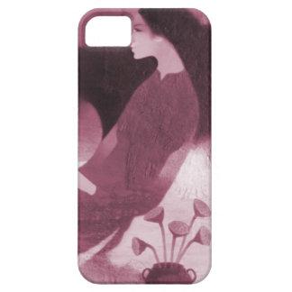 旧正月、花を持つ中国のな女性 iPhone SE/5/5s ケース