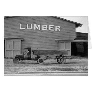 早いトレーラートラック1925年 カード