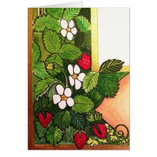 早い春のいちご カード