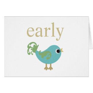 早い鳥のノート カード