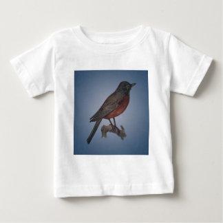 早い鳥はみみずをつかまえます ベビーTシャツ