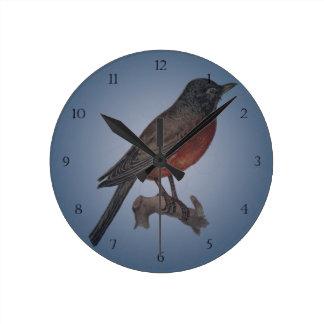 早い鳥はみみずをつかまえます ラウンド壁時計