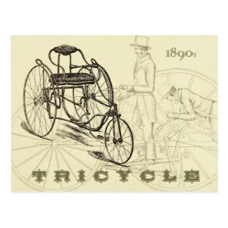 早い1890年代の三輪車 ポストカード