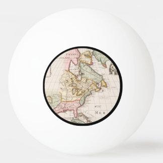 早い(1708年の)アメリカの地図の~のヴィンテージ、L'Amerique 卓球ボール