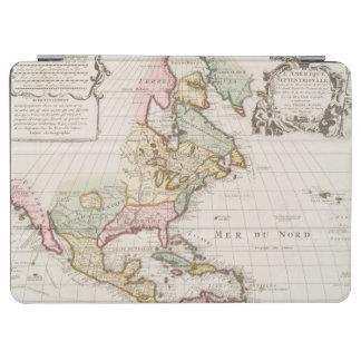 早い(1708年の)アメリカの地図の~のヴィンテージ、L'Amerique iPad Air カバー