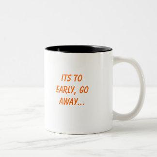 早くにその、遠くにに…行って下さい ツートーンマグカップ