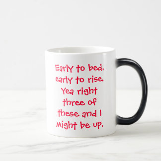 早くベッドに、早く上がるため。賛成の権利3の… マジックマグカップ