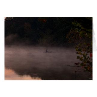 早く霧深い魚釣り カード