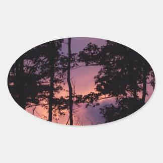 早く- 9月の薄暗がりII 楕円形シール