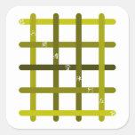 早九字(オリーブ色) 正方形シール・ステッカー